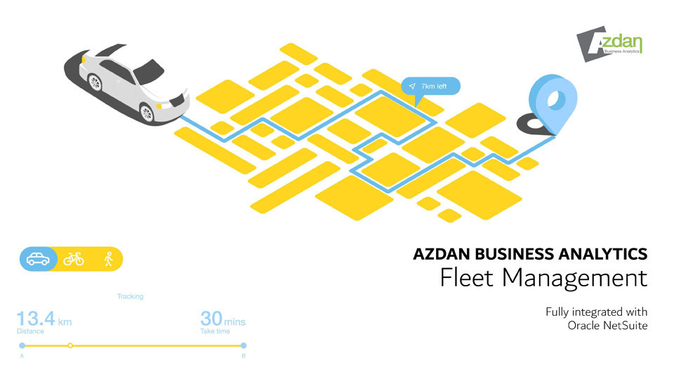 Fleet management, tracking, and monitoring for Oracle NetSuite